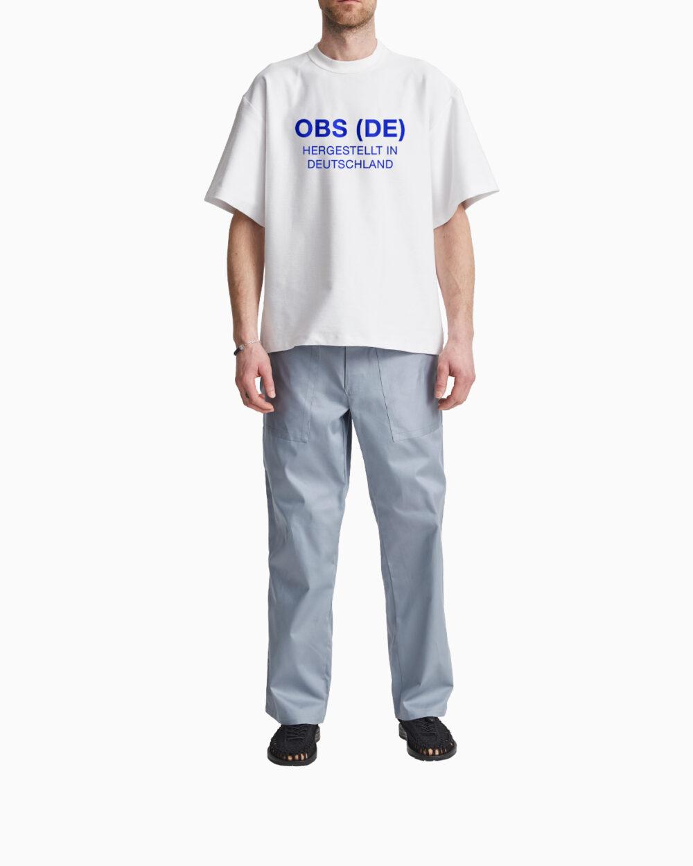 OBS (DE) Hergestellt in Deutschland T-Shirt / Big Blue Logo