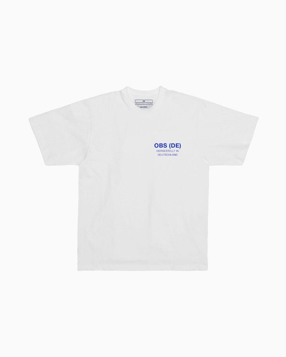OBS (DE) Hergestellt in Deutschland T-Shirt / Small Blue Logo